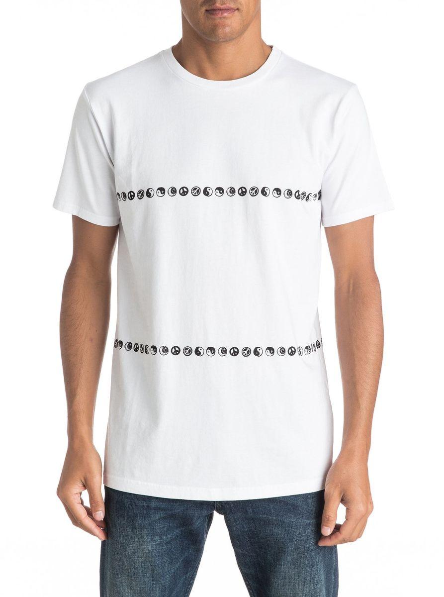 Футболка мужская Quiksilver, цвет: белый. EQYKT03527-WBB0. Размер M (48/50)EQYKT03527-WBB0Мужская футболка Quiksilver изготовлена из качественного материала. Модель выполнена с круглой горловиной и короткими рукавами.