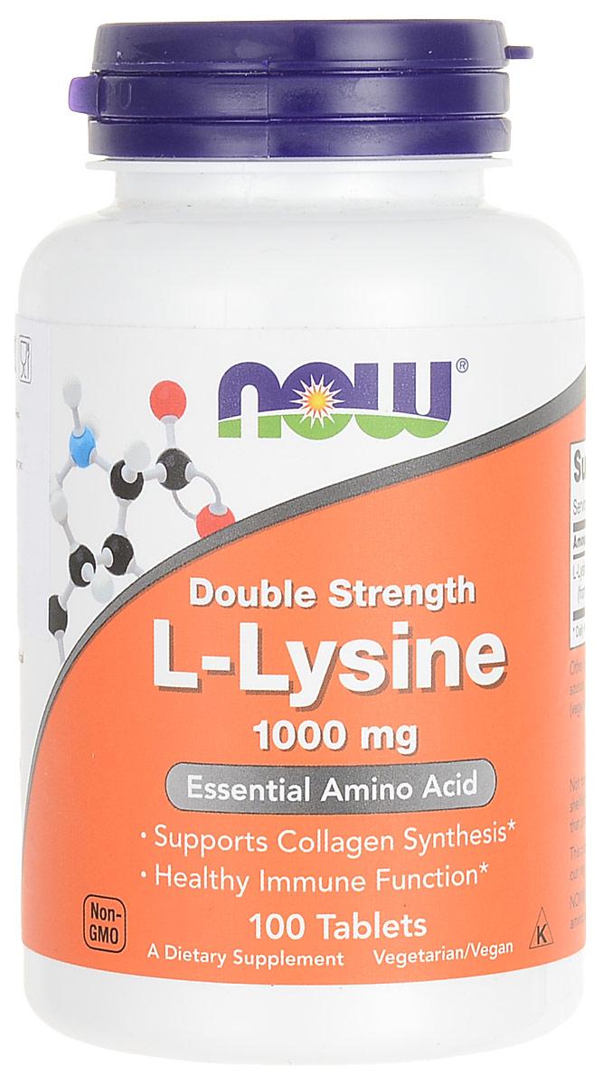 Аминокислота Now Foods Nutrition L-Lysine, 1000 мг, 100 таблетокNF0113В состав биодобавки Now Foods Nutrition L-Lysine входит лизин. Лизин – это аминокислота, очень важная для организма. Она принимает самое активное участие в образовании молекул белка, а белок – это все структуры нашего тела, все ферменты, многие гормоны. Словом, жизнь без лизина не то что трудна, но и даже невозможна.Так как лизин обеспечивает возможность синтеза белка, а белок – это незаменимый для жизнедеятельности фактор, можно ожидать, что свойства добавки и ее полезные эффекты будут весьма значительными:- Обеспечивает своевременную замену всех «старых» компонентов клеток и тканей новыми.- Поддерживает структуру, а следовательно, и функционирование всех органов. - Обеспечивает омоложение. - Из-за активации работы тканевых ферментов ускоряет обмен веществ.- Способствует снижению веса.- Улучшает накопление мышечной массы у спортсменов.- Стимулирует иммунитет, делает человека более устойчивым к болезням, помогает справляться с уже возникшими заболеваниями.- Нормализует обмен нейромедиаторов в мозге, что приводит к антидепрессивному эффекту, улучшению общего самочувствия, памяти, внимания, мышления. - Предупреждает остеопороз.- Улучшает выделение важных гормонов белковой природы: гормонов щитовидной железы, поджелудочной железы, гипофиза (частично). Это помогает преодолеть некоторые эндокринные нарушения. - Улучшает состояние хрусталика, предупреждает катаракту и другие дегенеративные процессы тканей глаза. - Повышает выносливость, уменьшает усталость, придает сил.- Укрепляет волосы, ногти.- Ускоряет восстановление после разного рода травм.Показания к приему биоактивной добавки:- Нервные расстройства: депрессия, тревога, невроз, частые стрессы.- Высокие нагрузки, утомляемость.- Занятия спортом.- Остеопороз и его предупреждение.- Ожирение.- Профилактика и терапия атеросклероза.- Ослабление иммунной системы, склонность к частым заболеваниям.- Предупреждение преждевременного старения.- Проблемы с щито