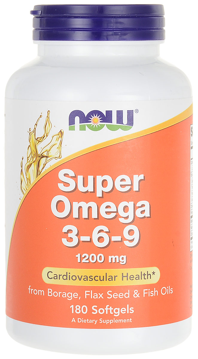 Омега жиры Now Foods Nutrition Super Omega 3-6-9, 1200 мг, 180 капсул now foods л тианин капсулы 90шт