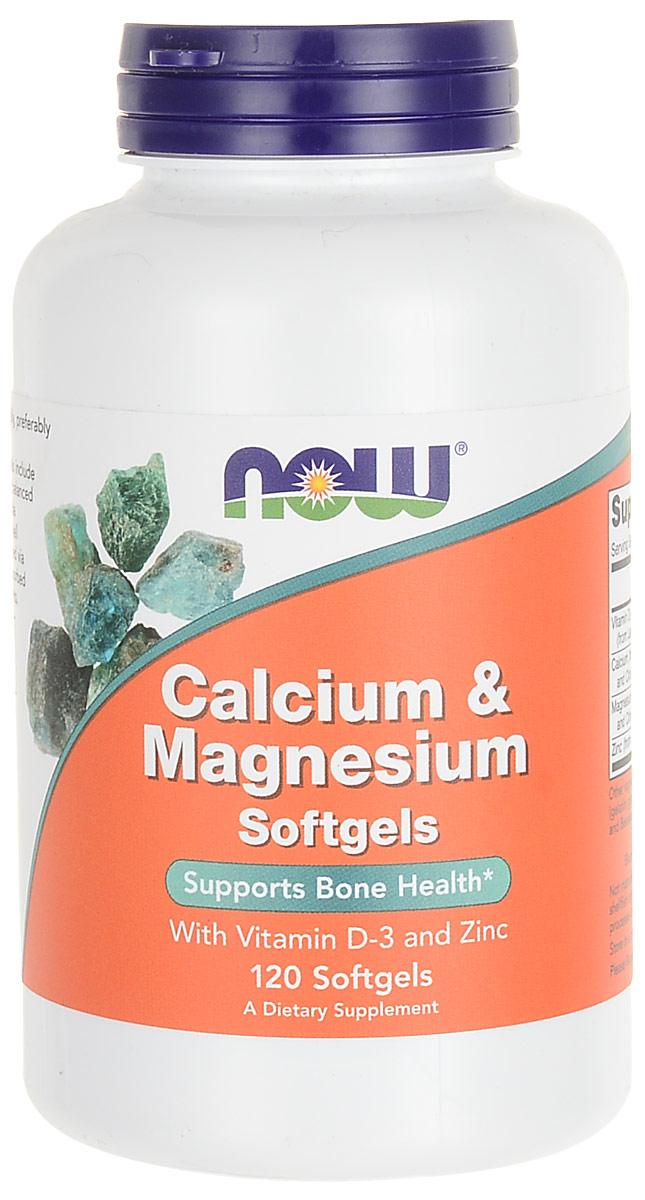 """Витаминно-минеральные комплекс Now Foods Nutrition """"Calcium & Magnesium"""", 120 капсул"""