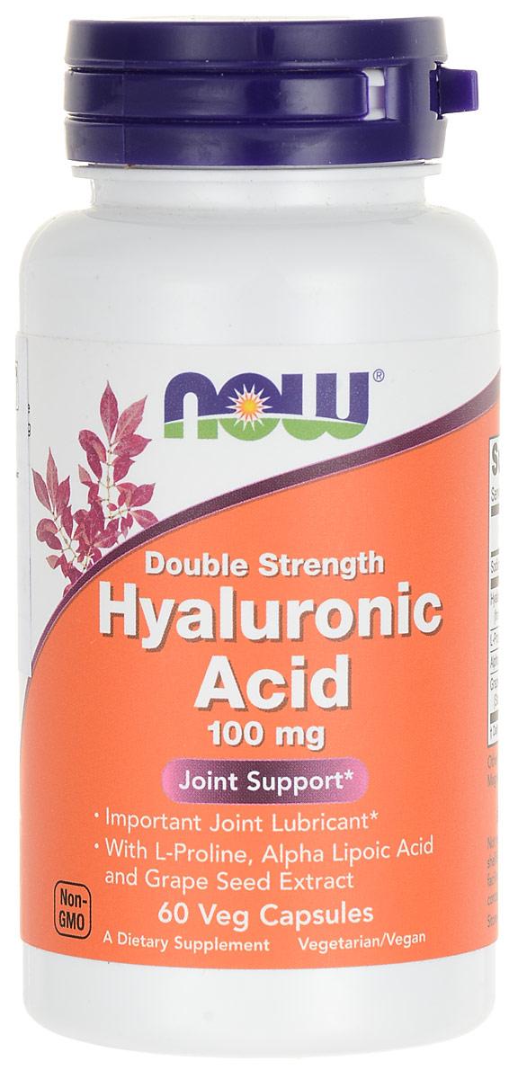 Средство для кожи Now Foods Nutrition  Hyaluronic Acid , 100 мг, 60 капсул - Витамины, минералы, комплексы