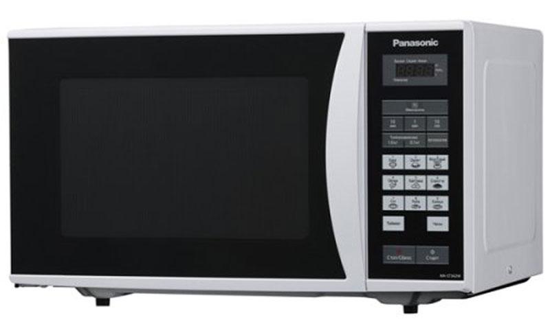 Panasonic NN-ST342MZTE микроволновая печьNN-ST342MZTEПростая и надежная в обращении новая микроволновая печь Panasonic NN-ST342MZTE с сенсорным управлением поможет вам сэкономить ваше драгоценное время. Она быстро разогреет любое блюдо или разморозит необходимый продукт. Экологически чистый материал корпуса и рабочей камеры - эмалированная сталь, гарантирует полезность ваших блюд, а белый цвет корпуса украсит любую кухню.Диаметр поддона: 28,5 см
