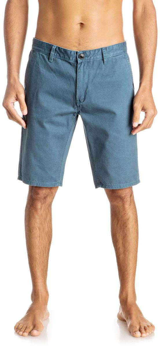 Шорты мужские Quiksilver, цвет: голубой. EQYWS03252-BQK0. Размер 33 (46/48)EQYWS03252-BQK0Шорты мужские Quiksilver изготовлены из качественной ткани. Модель длиной до колен застегивается на молнию и пуговицу. Изделие дополнено карманами.