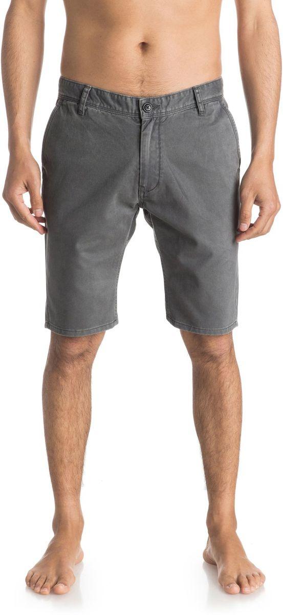 Шорты мужской Quiksilver, цвет: темно-серый. EQYWS03252-KRP0. Размер 33 (48/50)EQYWS03252-KRP0Шорты мужские Quiksilver изготовлены из качественной ткани. Модель длиной до колен застегивается на молнию и пуговицу. Изделие дополнено карманами.