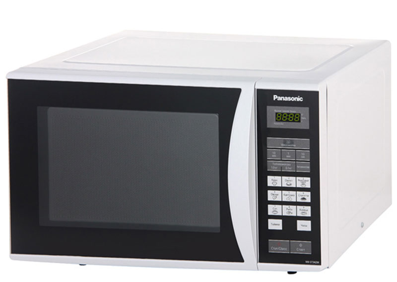 Panasonic NN-ST342WZTE микроволновая печьNN-ST342WZTEПростая и надежная в обращении новая микроволновая печь Panasonic NN-ST342WZTE с сенсорным управлением поможет вам сэкономить ваше драгоценное время. Она быстро разогреет любое блюдо или разморозит необходимый продукт. Экологически чистый материал корпуса и рабочей камеры - эмалированная сталь, гарантирует полезность ваших блюд, а белый цвет корпуса украсит любую кухню.Диаметр поддона: 28,5 см