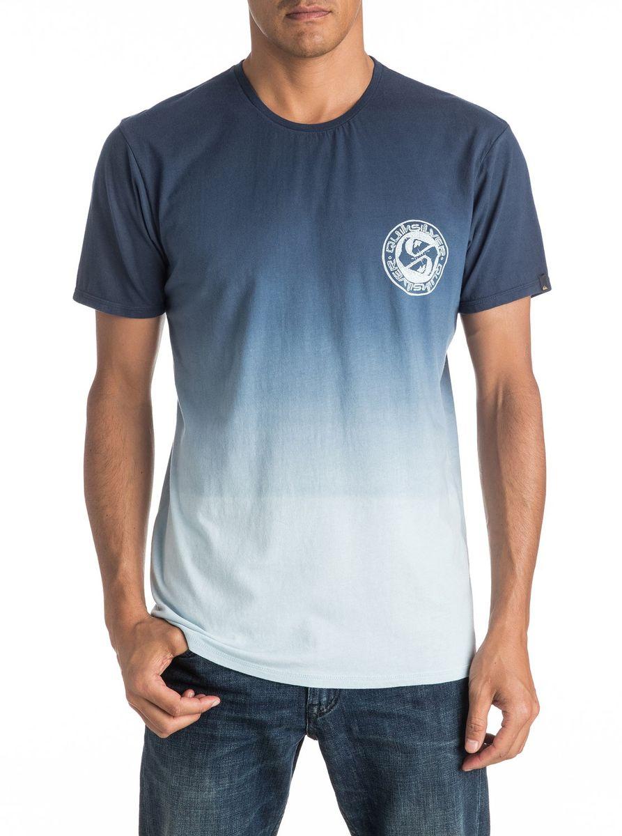 Футболка мужская Quiksilver, цвет: голубой. EQYZT04279-BYH0. Размер XXL (54/56)EQYZT04279-BYH0Мужская футболка Quiksilver изготовлена из качественного материала. Модель выполнена с круглой горловиной и короткими рукавами.