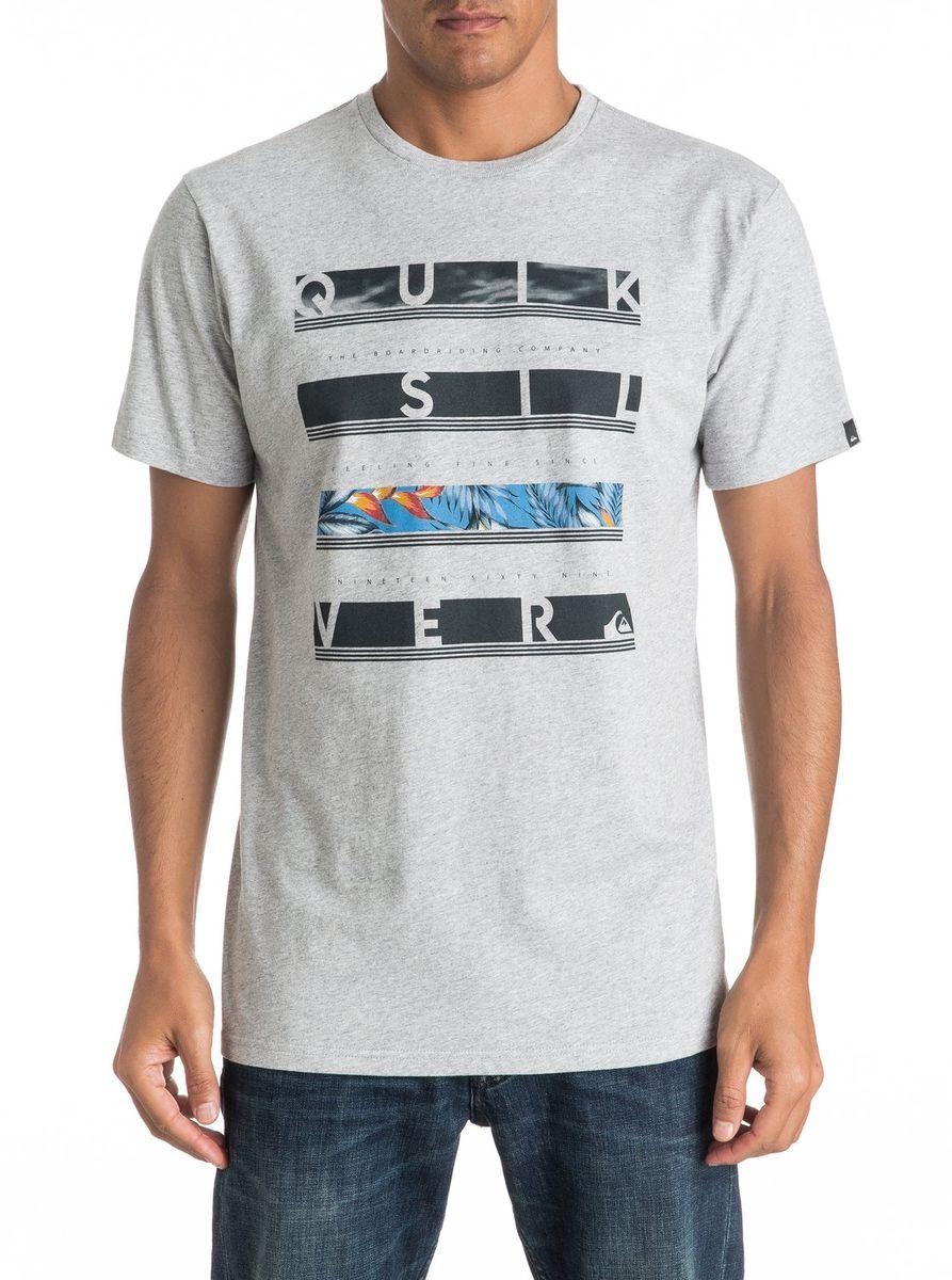 Футболка мужская Quiksilver, цвет: светло-серый. EQYZT04280-SGRH. Размер L (50/52)EQYZT04280-SGRHМужская футболка Quiksilver изготовлена из качественного материала. Модель выполнена с круглой горловиной и короткими рукавами.