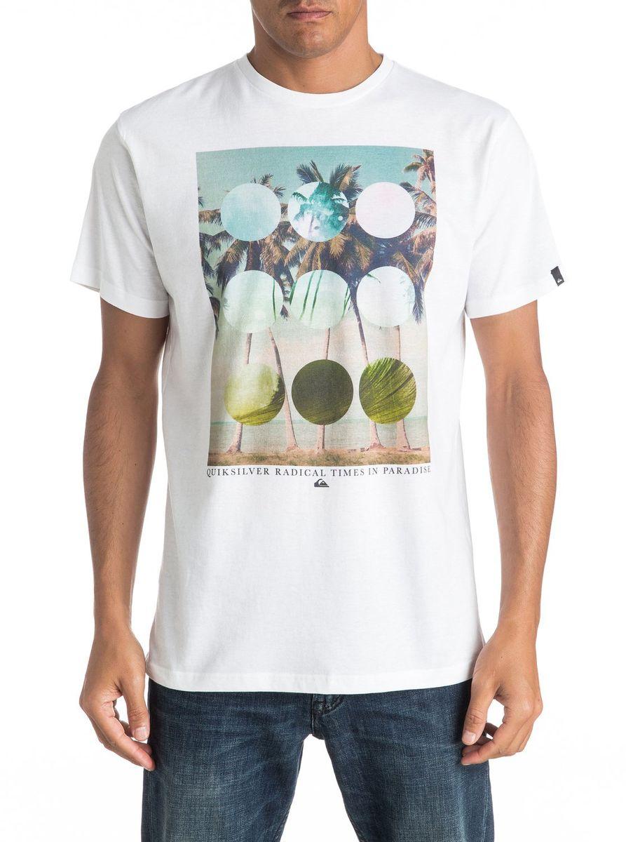 Футболка мужская Quiksilver, цвет: белый. EQYZT04282-WBB0. Размер XXL (54/56)EQYZT04282-WBB0Мужская футболка Quiksilver изготовлена из качественного материала. Модель выполнена с круглой горловиной и короткими рукавами.