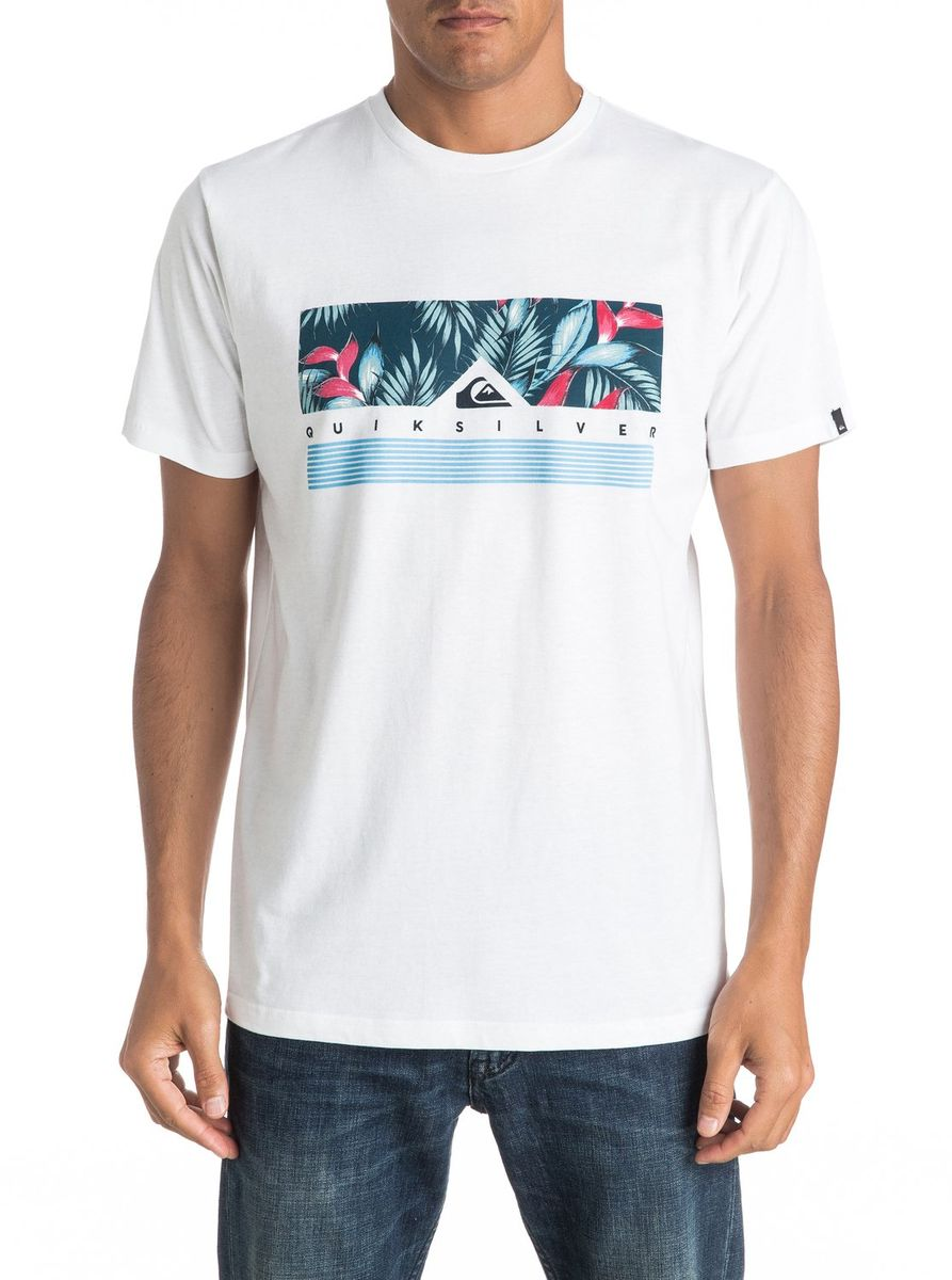 Футболка мужская Quiksilver, цвет: белый. EQYZT04284-WBB0. Размер XL (52/54) футболка мужская quiksilver цвет белый eqyzt04285 wbb0 размер xxl 56