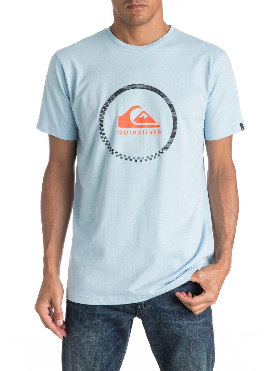 Футболка мужская Quiksilver, цвет: светло-голубой. EQYZT04285-BFG0. Размер XXL (56)EQYZT04285-BFG0Мужская футболка Quiksilver изготовлена из качественного материала. Модель выполнена с круглой горловиной и короткими рукавами.