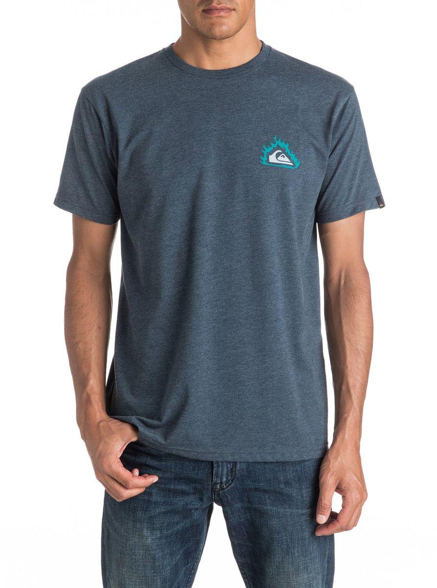 Футболка мужская Quiksilver, цвет: сине-серый. EQYZT04286-BRQH. Размер M (48/50)EQYZT04286-BRQHМужская футболка Quiksilver изготовлена из качественного натурального материала. Модель выполнена с круглой горловиной и короткими рукавами.