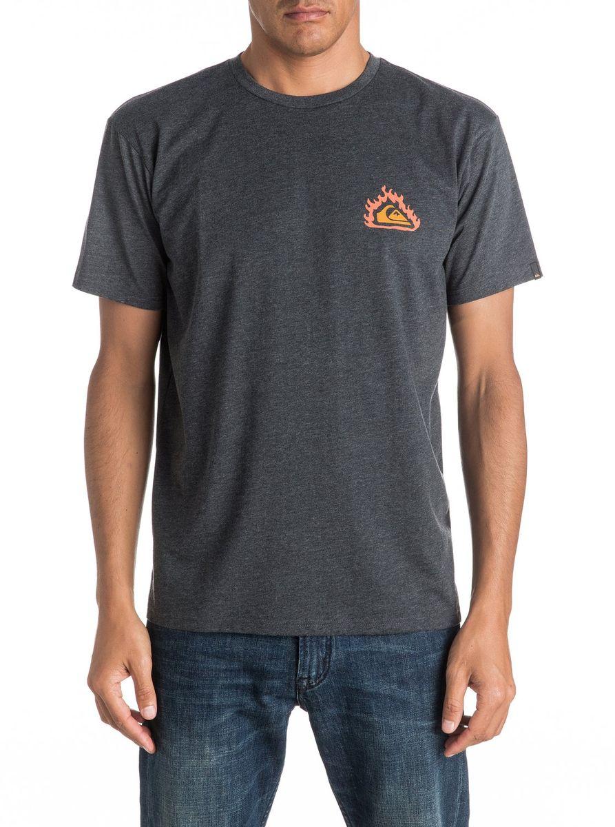 Футболка мужская Quiksilver, цвет: серый. EQYZT04286-KTAH. Размер XL (52/54)EQYZT04286-KTAHМужская футболка Quiksilver изготовлена из качественного натурального материала. Модель выполнена с круглой горловиной и короткими рукавами.