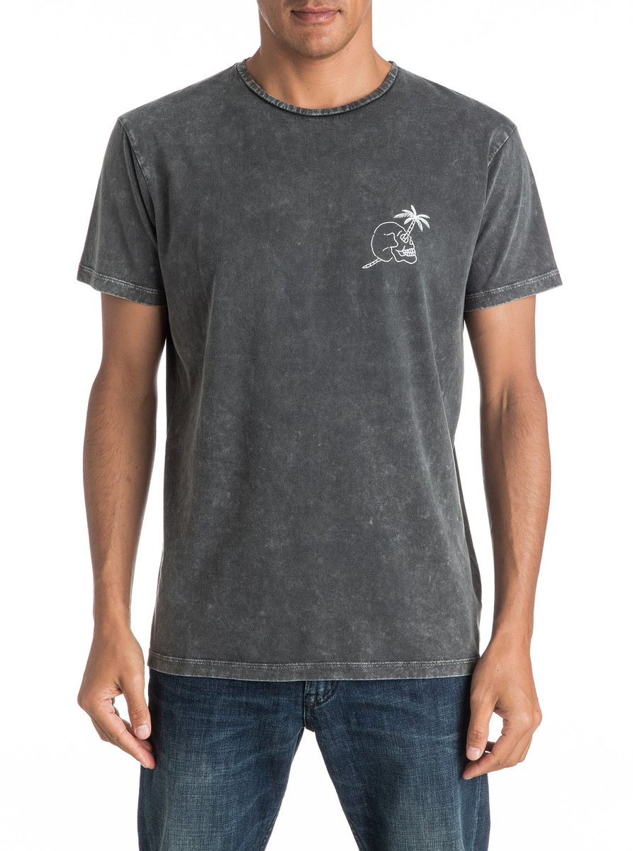 Футболка мужская Quiksilver, цвет: серый. EQYZT04292-KTA0. Размер L (50/52)EQYZT04292-KTA0Мужская футболка Quiksilver изготовлена из качественного натурального материала. Модель выполнена с круглой горловиной и короткими рукавами.