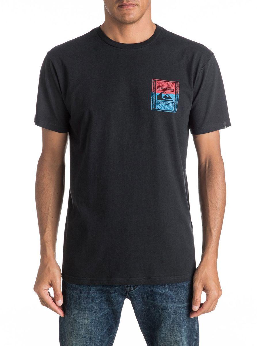 Футболка мужская Quiksilver, цвет: черный. EQYZT04296-KVJ0. Размер XL (52/54)EQYZT04296-KVJ0Мужская футболка Quiksilver изготовлена из качественного материала. Модель выполнена с круглой горловиной и короткими рукавами.