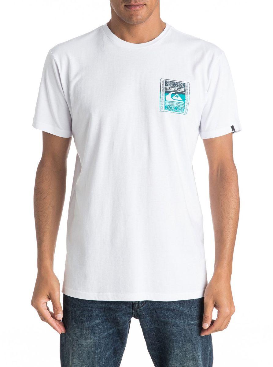 Футболка мужская Quiksilver, цвет: белый. EQYZT04296-WBB0. Размер XXL (54/56)EQYZT04296-WBB0Мужская футболка Quiksilver изготовлена из качественного материала. Модель выполнена с круглой горловиной и короткими рукавами.