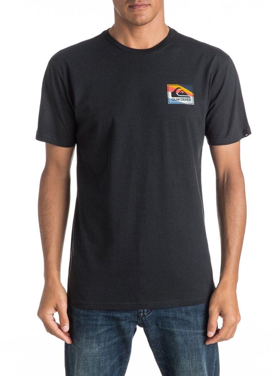 Футболка мужская Quiksilver, цвет: черный. EQYZT04298-KVJ0. Размер XXL (54/56) футболка мужская quiksilver цвет белый eqyzt04285 wbb0 размер xxl 56