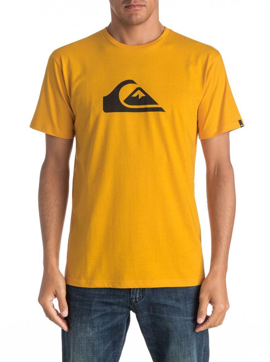 Футболка мужская Quiksilver, цвет: желтый. EQYZT04302-YKS0. Размер M (48/50)EQYZT04302-YKS0Мужская футболка Quiksilver изготовлена из качественного натурального хлопка. Модель выполнена с круглой горловиной и короткими рукавами.
