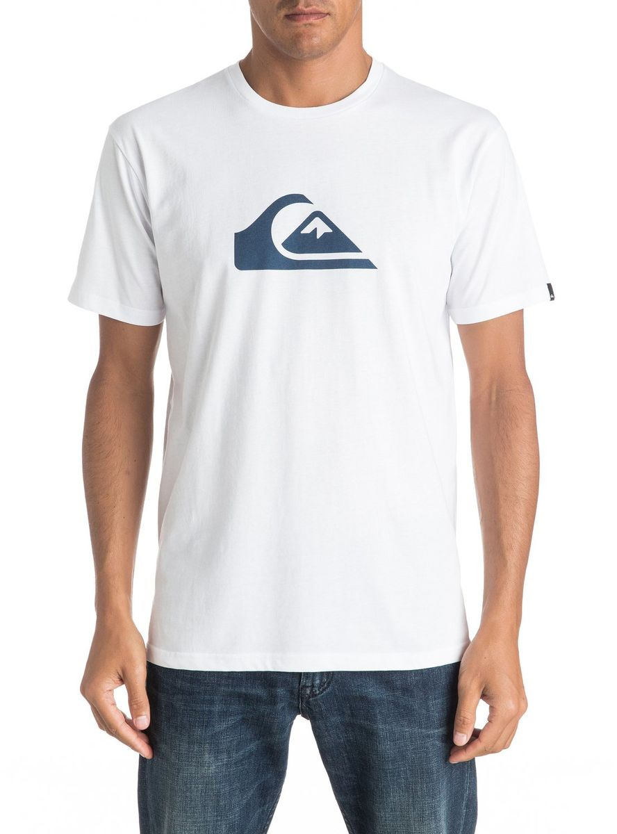 Футболка мужская Quiksilver, цвет: белый. EQYZT04302-WBB0. Размер M (48/50) футболка мужская quiksilver цвет белый eqyzt04285 wbb0 размер xxl 56
