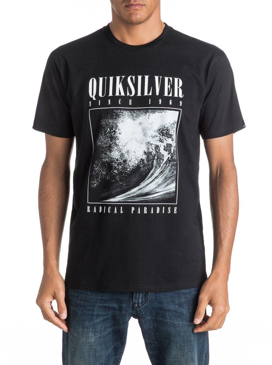 Футболка мужская Quiksilver, цвет: черный. EQYZT04303-KVJ0. Размер L (50/52)EQYZT04303-KVJ0Мужская футболка Quiksilver изготовлена из качественного материала. Модель выполнена с круглой горловиной и короткими рукавами.