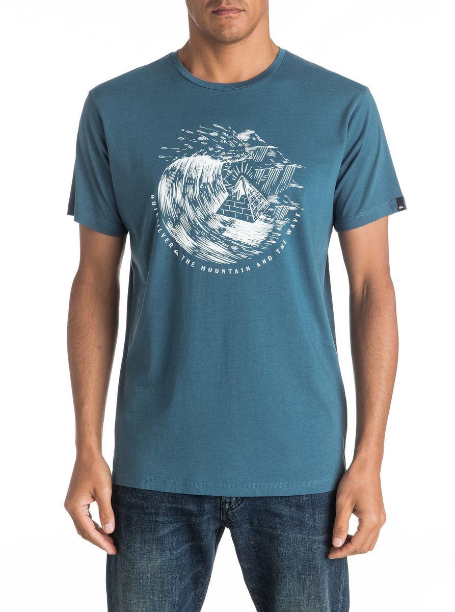 Футболка мужская Quiksilver, цвет: голубой. EQYZT04323-BQK0. Размер XXL (54/56)EQYZT04323-BQK0Мужская футболка Quiksilver изготовлена из качественного натурального материала. Модель выполнена с круглой горловиной и короткими рукавами.
