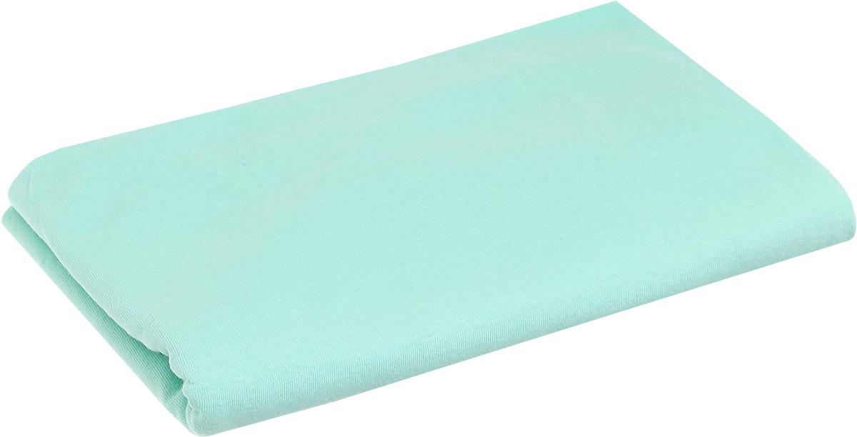 Трон-Плюс Пеленка трикотажная цвет зеленый 120 см х 90 см пеленка для свободного пеленания