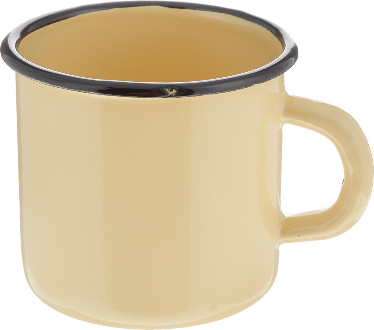 Кружка эмалированная СтальЭмаль, цвет: желтый, 400 мл2с2_желтыйКружка СтальЭмаль изготовлена из высококачественной стали с эмалированным покрытием. Она оснащена удобной ручкой. Такая кружка не требует особого ухода и ее легко мыть. Благодаря классическому дизайну и удобству в использовании кружка займет достойное место на вашей кухне.