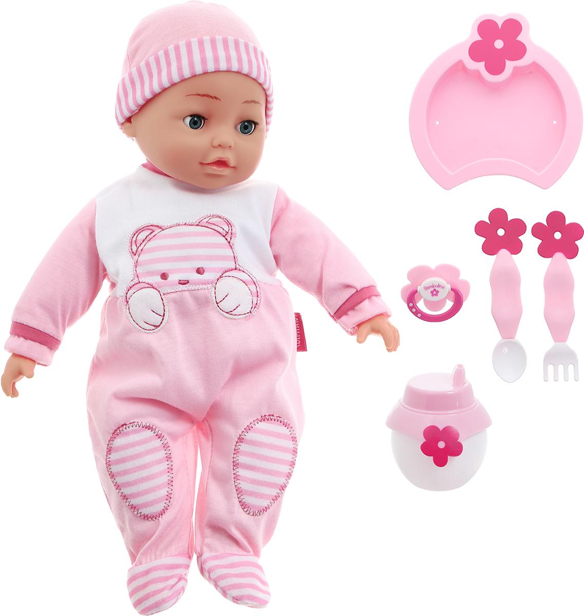 Интерактивный пупс Bambolina Jasmine 40 см bambolina игровой набор с куклой пупс в ванночке