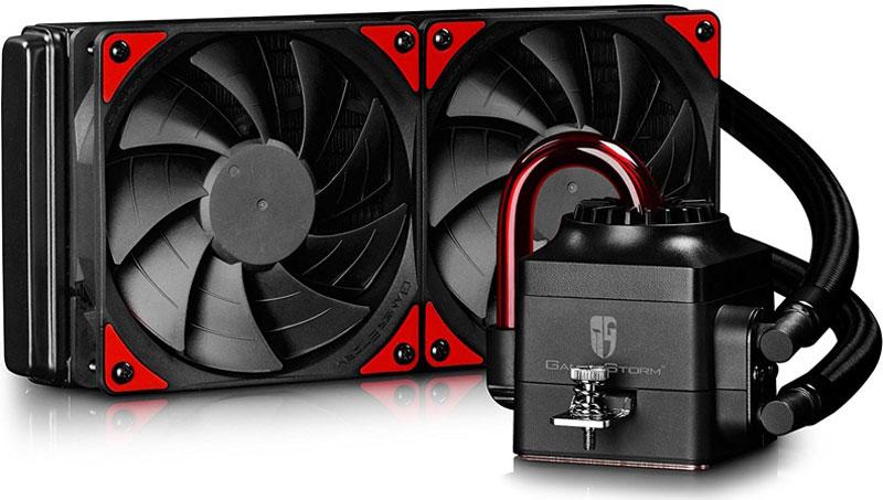 Deepcool Captain 240 EX система охлаждения для игрового компьютераCAPTAIN 240 EXСистема охлаждения Deepcool Captain 240 EX выполнена в духе стимпанка с LED-подсветкой и прозрачными трубками, сквозь которые видна циркуляция жидкости. Все эти элементы придают системе свой неповторимый стиль, что наверняка оценят владельцы корпусов с боковым окном. СВО предназначена для охлаждения всех известных на сегодняшний день процессоров, в комплекте — полный комплект креплений, а тепловой пакет процессоров, с охлаждением которых справится эта СВО достигает 220 Вт.Данная модель построена на базе новых PWM вентиляторов серии DeepCool Gamer Storm — TF120, которые отличаются высокой производительностью, низким уровнем шума и запатентованным дизайном. Вентилятор Gamer Storm TF120 развивает при максимальной скорости 1800 об/мин давление 3.31 мм водяного столба, а уровень шума не превышает 31.3 дБ.Резиновое покрытие предохраняет СВО от внешних воздействий, защищая ее от коррозии, перепадов давления и температурных скачков.Благодаря 240-мм алюминиевому радиатору вентиляторы системы могут работать на низких оборотах и практически бесшумно. Также в конструкции предусмотрены стандартные монтажные отверстия под 120-мм вентилятор.Трехфазный индукционный мотор, встроенный мощный закрытый импеллер. Сильный поток жидкости и больший напор.
