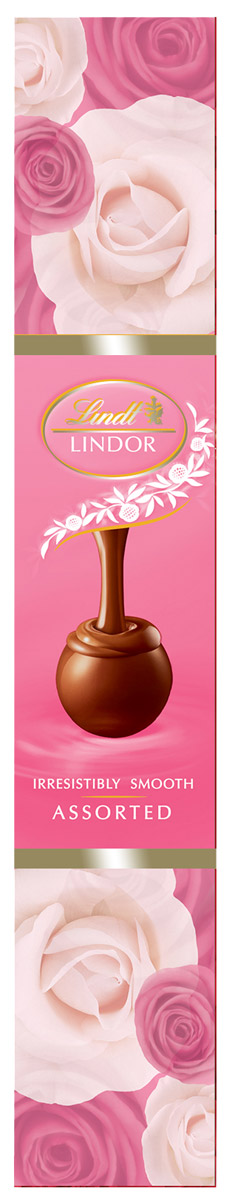 Lindt Линдор Конфеты из белого шоколада Клубника и сливки, 75 г lindt lindor шоколадные конфеты ассорти 100 г