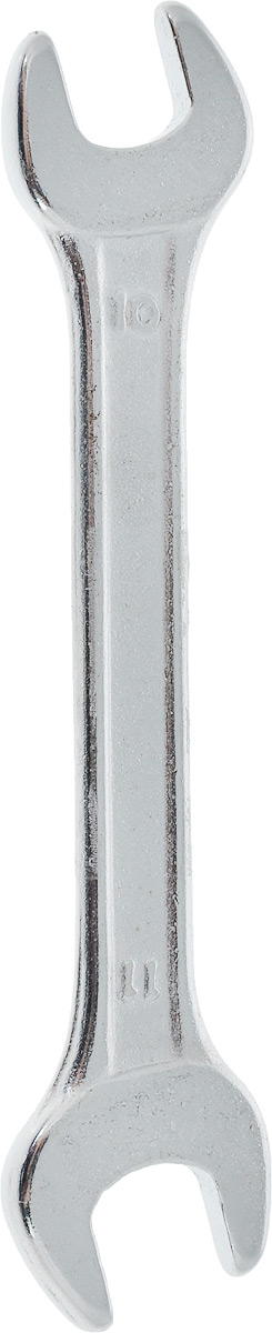 Ключ рожковый Helfer, 10 х 11 смHF002109Рожковый ключ Helfer станет отличным помощником монтажнику или владельцу авто. Этот инструмент обеспечит надежную фиксацию на гранях крепежа. Специальная углеродистая сталь повышает прочность и износ инструмента.Длина ключа: 11 см.Размеры ключа: 10 мм; 11 мм.