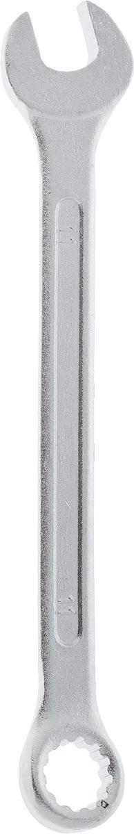 Ключ гаечный комбинированный Helfer, 11 ммHF002005Комбинированный ключ Helfer предназначен для работыс резьбовыми соединениями. Разрезные головки ключейобеспечивают надежный обхват детали и большойкрутящий момент. Размеры зева (отверстия) отвечаютвсем стандартам. Ключ выполнен из углеродистой стали,которая отличается повышенной прочностью. Такой инструмент станет отличным помощникоммонтажнику или владельцу авто.Длина ключа: 15 см. Диаметр головки:11 мм.
