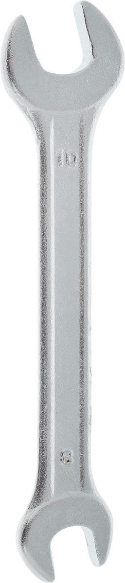 Ключ рожковый Helfer, 8 х 10 смHF002108Рожковый ключ Helfer станет отличнымпомощником монтажнику или владельцу авто. Этотинструмент обеспечит надежную фиксацию на граняхкрепежа. Специальная углеродистая сталь повышаетпрочность и износ инструмента. Длина ключа: 10 см. Размеры ключа: 8 мм; 10 мм.