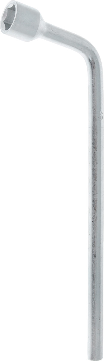 Ключ баллонный Helfer, Г-образный, 19 мм х 30 смHF002202Ключ балонный Г-образный выполнен из инструментальной стали, обеспечивает долгосрочное использование изделия. Ключ оснащен усиленной конструкцией.Торцевая головка: 19 мм. Длина ключа: 30 см.