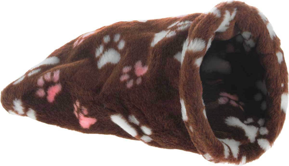 Лежак для животных Elite Valley Мешок, цвет: коричневый, белый, розовый, 20 х 20 х 40 смЛ-18/1_коричневый, лапки белые и розовыеНеобычный лежак Elite Valley Мешок станет лучшим подарком для вашего любимца. Изделие выполнено из искусственного меха и оснащен внутри металлическим кольцом.Мягкий, теплый мешок надолго привлечет внимание животного, обеспечит интересным времяпровождением, а также даст возможность прятаться внутри от холода и посторонних взглядов.