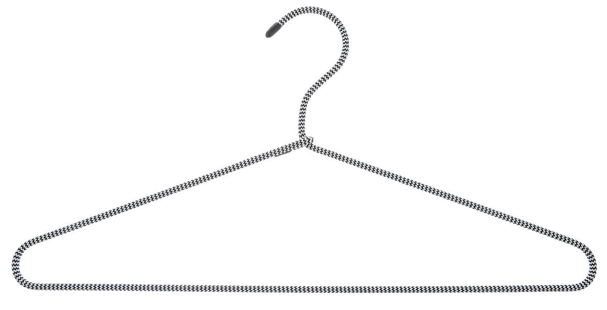 Вешалка для одежды HomeQueen, металлическая, с текстильным покрытием, цвет: черный, белый, длина 40,5 см70698_черный/белыйВешалка для одежды HomeQueen изготовлена из металлас текстильным покрытием, снабжена закругленнымиплечиками.Вешалка - незаменимая вещь для аккуратного храненияодежды. Размер вешалки: 40,5 х 0,7 х 20 см.Вешалка HomeQueen, металлическая, с текстильным покрытием, цвет: черный,белый, длина 40,5 см