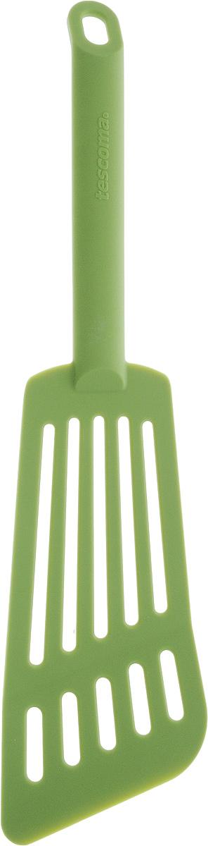 Лопатка для омлета Tescoma Space Tone, цвет: салатовый, длина 30 см638056_салатовыйЛопатка Tescoma Space Tone изготовлена из высококачественного термостойкого нейлона, выдерживающего температуру до 210°С, и предназначена для переворачивания и подачи омлета. Такая кухонная принадлежность подходит для всех видов посуды, а также для посуды с антипригарным покрытием. Лопатка Tescoma Space Tone станет вашим незаменимым помощником на кухне, а также это практичный и необходимый подарок любой хозяйке! Можно мыть в посудомоечной машине.Общая длина лопатки: 30 см. Размер рабочей поверхности: 16 х 7,5 см.