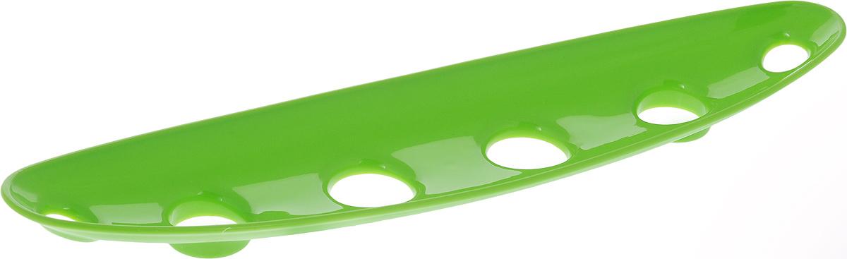 Миска для фруктов и овощей Tescoma Vitamino, продольная, цвет: салатовый, 35 х 8 х 2,5 см642786Продольная миска Tescoma Vitamino выполнена из высококачественного прочного пластика.Изделие прекрасно подходит для хранения свежих овощей и фруктов, например, яблок, груш,слив, мандаринов, помидоров, а также для ополаскивания их под проточной водой. Мискаоснащена большими отверстиями для максимального доступа воздуха к хранимым продуктам.Фрукты и овощи в таком изделии дозревают естественным путем и дольше остаются свежими.Подходит для холодильника и посудомоечной машины.Размер миски: 35 х 8 х 2,5 см.