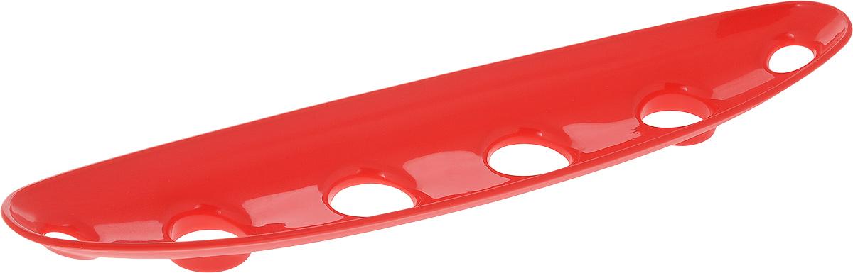 Миска для фруктов и овощей Tescoma Vitamino, продольная, цвет: красный, 35 х 8 х 2,5 см642786_красныйПродольная миска Tescoma Vitamino выполнена из высококачественного прочного пластика.Изделие прекрасно подходит для хранения свежих овощей и фруктов, например, яблок, груш,слив, мандаринов, помидоров, а также для ополаскивания их под проточной водой. Мискаоснащена большими отверстиями для максимального доступа воздуха к хранимым продуктам.Фрукты и овощи в таком изделии дозревают естественным путем и дольше остаются свежими.Подходит для холодильника и посудомоечной машины.Размер миски: 35 х 8 х 2,5 см.