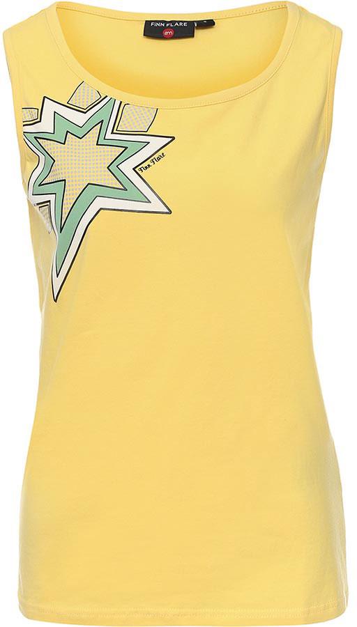Майка женская Finn Flare, цвет: светло-желтый. B17-32040_414. Размер L (48) платье finn flare chapurin цвет желтый cs17 17035 410 размер l 48