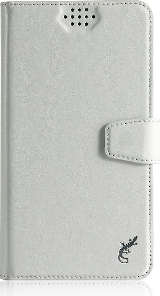 G-Case Slim Premium универсальный чехол для смартфонов 3,5-4,2, WhiteGG-761Стильный универсальный чехол-книжка G-Case Slim Premium подходит для смартфонов с диагональю от 3,5 до 4,2 дюймов. Выполнен из высококачественных материалов и служит для защиты корпуса и экрана от царапин, пыли и падений. Чехол надежно фиксирует устройство. Имеет свободный доступ ко всем разъемам и камере устройства.
