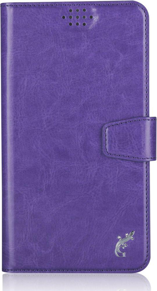 G-Case Slim Premium универсальный чехол для смартфонов 4,2-5, Purple чехол водонепроницаемый asus zenpouch для смартфонов до 5 5 нейлон термополиуретан желтый 90xb03ja bsl010