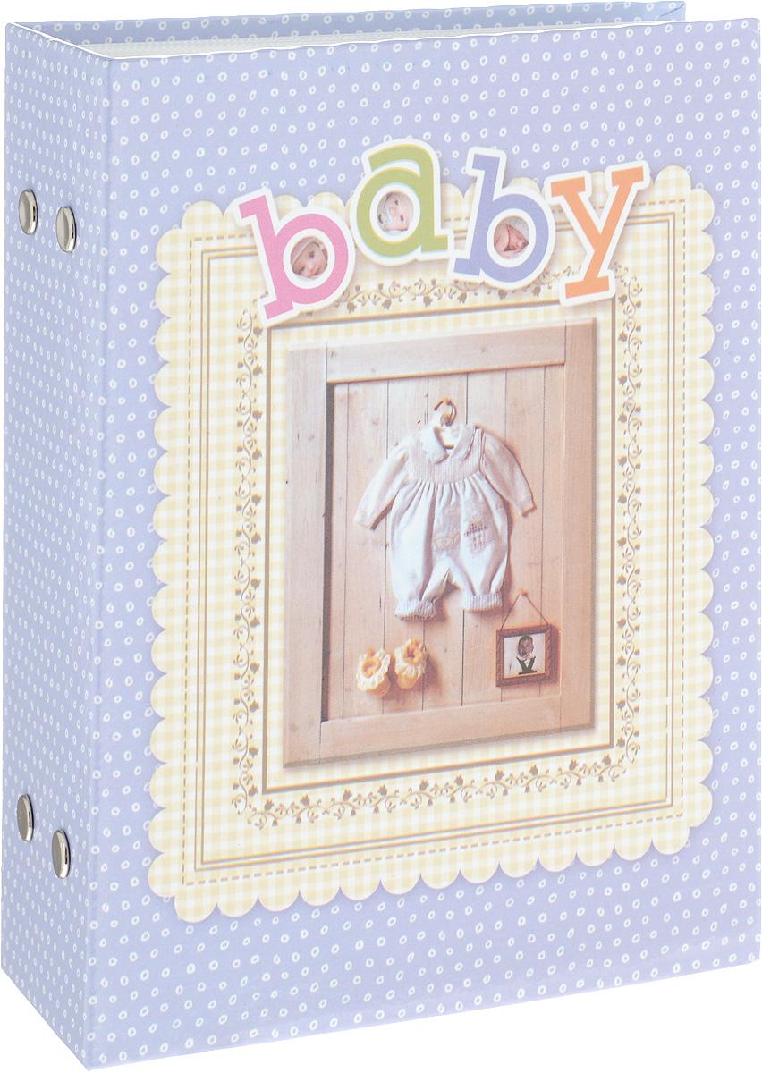 Фотоальбом Platinum Детский альбом - 3, 100 фотографий, цвет: голубой, 10 х 15 см фотоальбом platinum соцветие 200 фотографий 10 х 15 см
