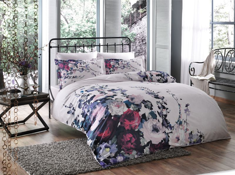 Комплект белья TAC Veronica, 1,5-спальный, наволочки 50x70 см