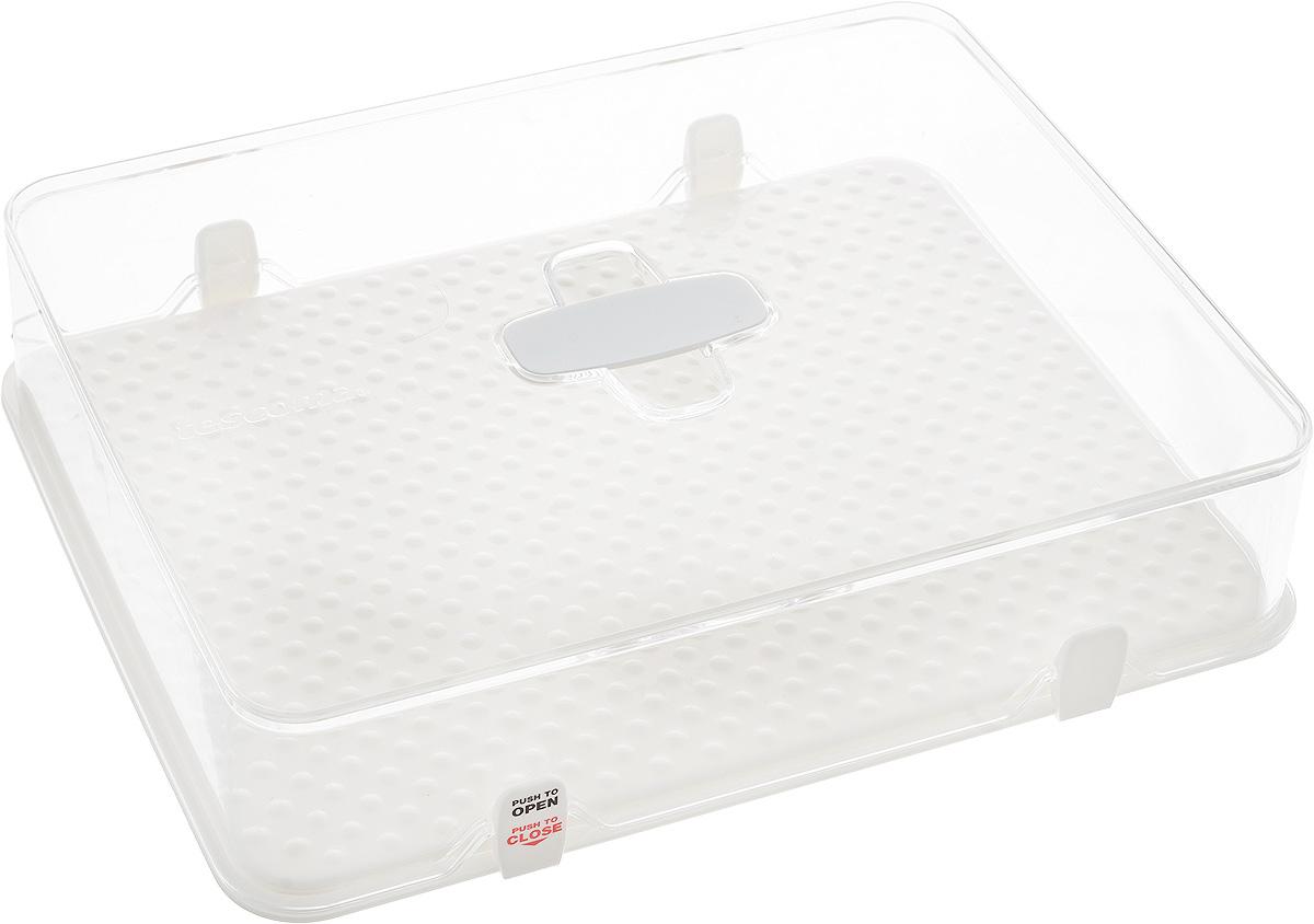 Kонтейнер для холодильника Tescoma Purity, 28 х 22 х 6,5 см891826Kонтейнер Tescoma Purity выполнен из высококачественногопищевого пластика, который используется в здравоохранении ифармацевтики. Изделие отлично подходит для гигиеничногохранения продуктов в холодильнике. Используемый материалне влияет на качество продуктов даже при длительномхранении.В комплекте имеются запасные замки-крылышки. Можно мыть в посудомоечной машине.