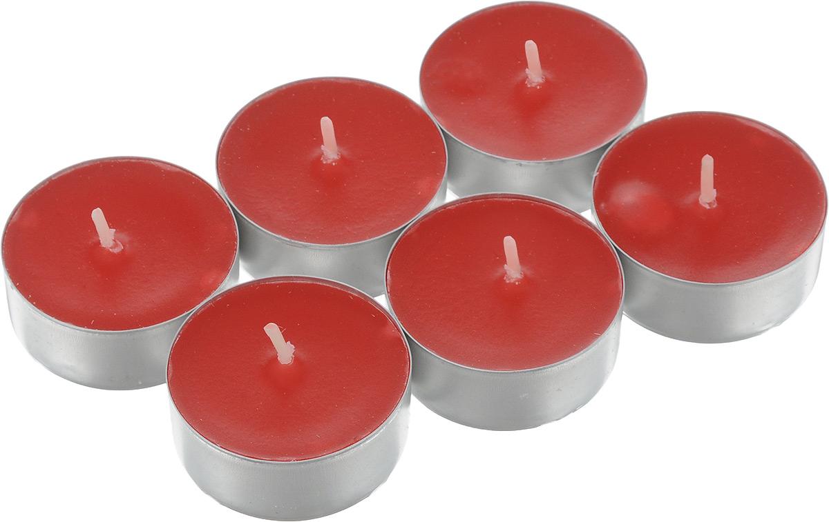 """Набор Омский свечной завод """"Клубника"""" состоит из 6 круглых свечей с ароматом клубники, изготовленных из парафина.  Первичный парафин в составе свечей обеспечивает качество горения (выгорает полностью). При горении не трещат, не появляются искры.  Такой набор украсит интерьер вашего дома или офиса и наполнит его атмосферу теплом и уютом.  Примерное время горения: 3 часа. Диаметр свечи: 3,8 см. Высота: 1,5 см."""