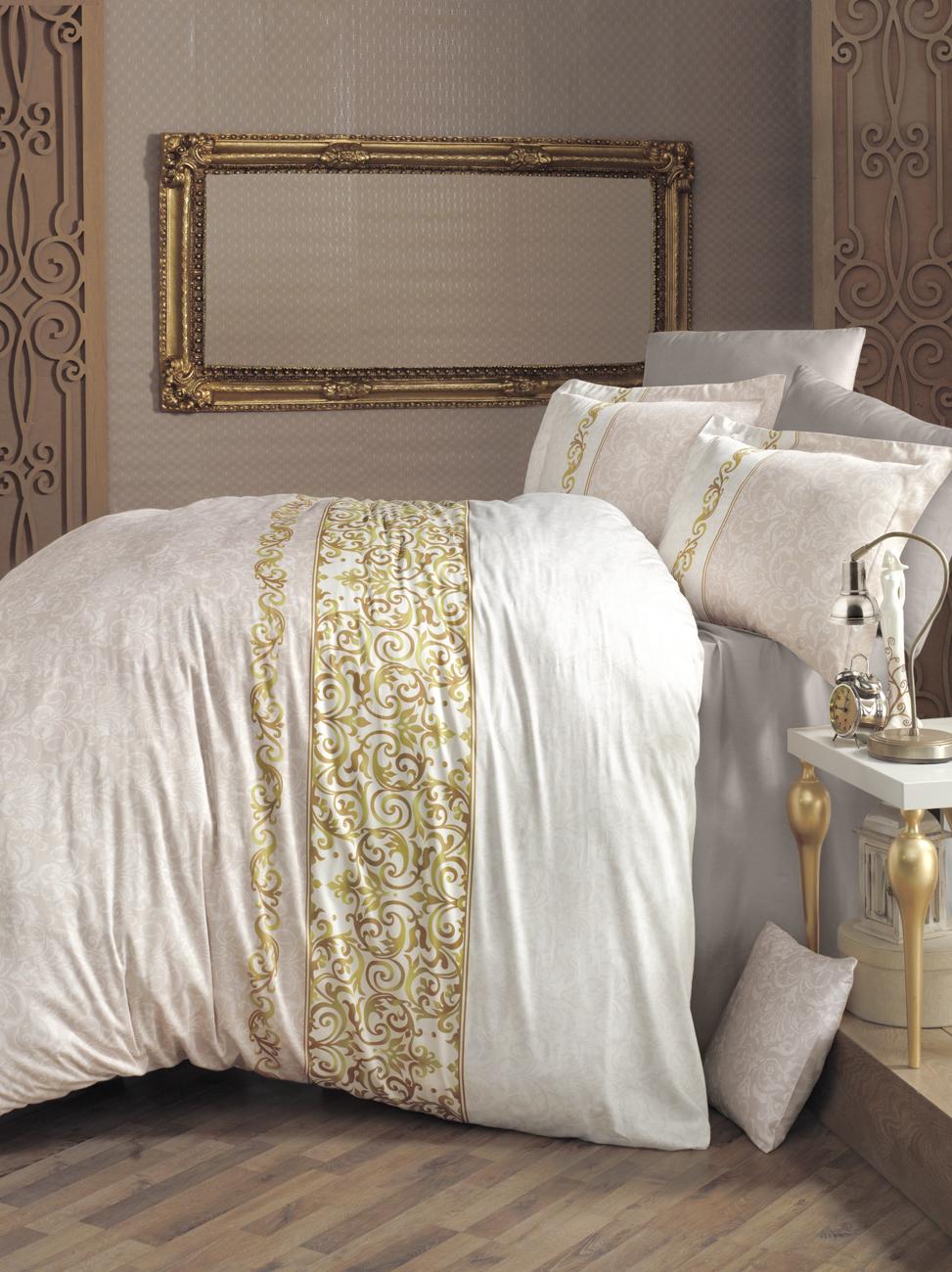 Комплект белья Clasy Mirace, 1,5-спальный, наволочки 50х70, цвет: бежевый00000005269Комплект постельного белья Clasy Mirace изготовлен в Турции из высококачественного сатина на одной из ведущих фабрик. Выбирая постельное белье Clasy Mirace вы будете приятно удивлены качественной выделкой ткани, красивыми и модными расцветками, а также его отличным качеством. Все наволочки у комплектов Clasy Mirace имеют клапан без пуговиц и молнии. Пододеяльник с пуговицами.Советы по выбору постельного белья от блогера Ирины Соковых. Статья OZON Гид