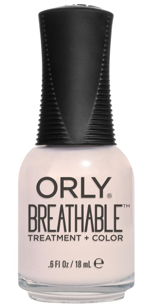 Orly Профессиональный дышащий уход (цвет) за ногтями 908 BARELY THERE 18 мл20908Бренд ORLY разработал первый профессиональный цветной дышащий уход за ногтями BREATHABLE. Инновационная дышащая технология BREATHABLE создаёт на ногте проницаемую пленку, позволяющую кислороду, влаге и активным ингредиентам препарата достигать поверхности ногтя. BREATHABLE от ORLY — уход и цвет в одном флаконе! Преимущества BREATHABLE от ORLY:1. Способствует росту и укреплению ногтей благодаря дышащей технологии и формуле с аргановым маслом, витамином С и провитамином В5.2. Формула «Все в одном» позволяет наносить BREATHABLE без использования базового и верхнего покрытий.3. Запатентованная плоская кисть для удобного нанесения. ·4. Стойкость. Палитра BREATHABLE от ORLY — это роскошные оттенки и прозрачный блеск-уход для ультраглянца. Стильный маникюр и профессиональный уход – это новинка BREATHABLE от ORLY!