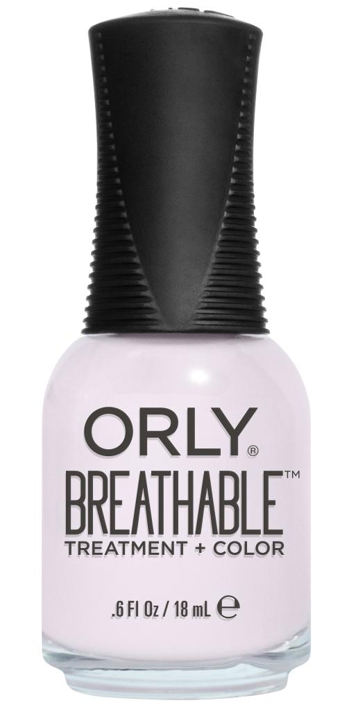 Orly Профессиональный дышащий уход (цвет) за ногтями 909 LIGHT AS A FEATHER 18 мл20909Бренд ORLY разработал первый профессиональный цветной дышащий уход за ногтями BREATHABLE. Инновационная дышащая технология BREATHABLE создаёт на ногте проницаемую пленку, позволяющую кислороду, влаге и активным ингредиентам препарата достигать поверхности ногтя. BREATHABLE от ORLY — уход и цвет в одном флаконе!Преимущества BREATHABLE от ORLY: 1. Способствует росту и укреплению ногтей благодаря дышащей технологии и формуле с аргановым маслом, витамином С и провитамином В5. 2. Формула «Все в одном» позволяет наносить BREATHABLE без использования базового и верхнего покрытий. 3. Запатентованная плоская кисть для удобного нанесения. · 4. Стойкость.Палитра BREATHABLE от ORLY — это роскошные оттенки и прозрачный блеск-уход для ультраглянца.Стильный маникюр и профессиональный уход – это новинка BREATHABLE от ORLY!Как ухаживать за ногтями: советы эксперта. Статья OZON Гид