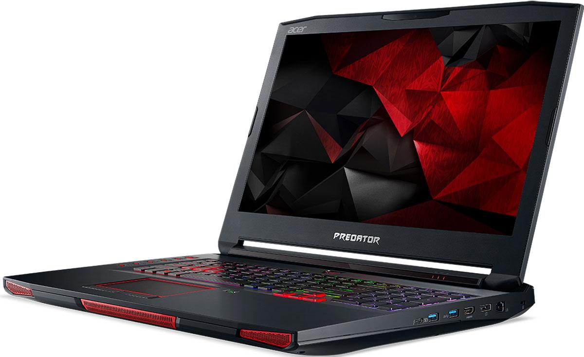 Acer Predator 17X GX-791, Black (GX-791-72EE)GX-791-72EEРаскройте весь свой потенциал благодаря ноутбуку Acer Predator 17X GX-791 с производительностью игрового настольного компьютера.NVIDIA G-Sync обеспечивает плавность игрового процесса за счет синхронизации кадров, обработанных графических процессором, с частотой обновления изображения на экране ноутбука. Это полностью устраняет прерывистость и искажения изображения.Потенциал этого устройства поистине безграничен. Ноутбук оснащен новейшим процессором Intel Core i7 шестого поколения с разблокированным множителем и графической системой.Специально разработанная система охлаждения с тремя вентиляторами и фронтальным забором воздуха позволит раскрыть весь потенциал железа. Ультратонкий (0,1 мм) металлический вентилятор AeroBlade имеет улучшенную аэродинамику и обеспечивает превосходный обдув для охлаждения и очистки системы.PredatorSense позволит контролировать и настраивать различные игровые параметры: от RGB-подсветки клавиатуры до оверклокинга. Отслеживайте температуру системы и процессора, а также скорость вращения вентиляторов в реальном времени. Разноцветную подсветку каждой клавиши и программируемые горячие клавиши можно полностью настроить по своему желанию.Ускорьте работу с помощью 3 SATA в RAID 0 или твердотельного накопителя PCIe NVMe. USB-C Thunderbolt 3 ускорит передачу данных и зарядку, а Killer DoubleShot Pro оптимизирует пропускную способность.Точные характеристики зависят от модели.Ноутбук сертифицирован EAC и имеет русифицированную клавиатуру и Руководство пользователя.