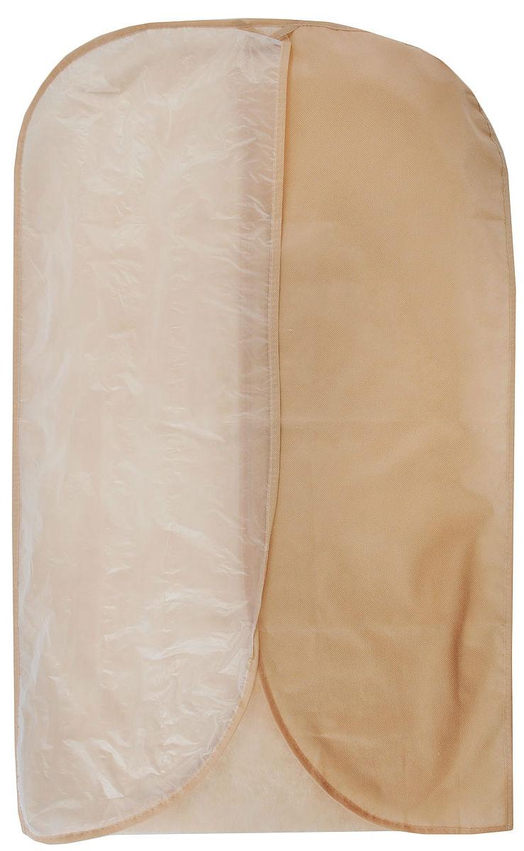 """Чехол для одежды """"Eva"""" изготовлен из полипропилена и полиэтилена низкого давления. Особое строение полипропилена создает естественную вентиляцию: материал """"дышит"""" и позволяет воздуху свободно проникать внутрь чехла, не пропуская пыль. Это особенно необходимо для меховой, кожаной и шерстяной одежды. Благодаря форме чехла, одежда не мнется даже при длительном хранении. Для удобства изделие имеет прозрачную половину. Чехол для одежды будет очень полезен при транспортировке вещей на близкие и дальние расстояния, при длительном хранении сезонной одежды, а также при ежедневном хранении вещей из деликатных тканей. Чехол для одежды не только защитит ваши вещи от пыли и влаги, но и поможет доставить одежду на любое мероприятие в идеальном состоянии.Размер чехла: 60 х 100 см."""